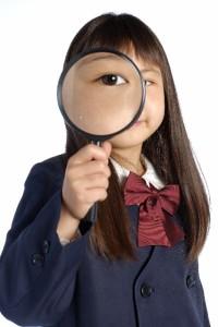 虫眼鏡少女