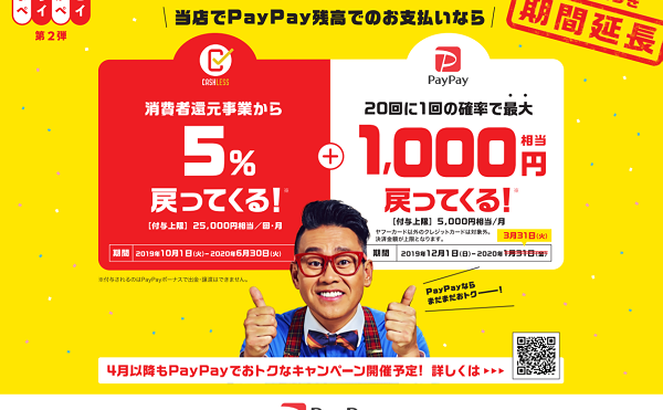 PayPayまちかどキャンペーン
