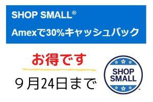 AMEX30%キャッシュバックキャンペーン